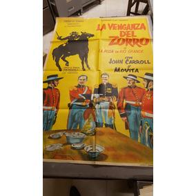 Antiguo Afiche La Venganza De El Zorro
