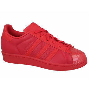 Tênis adidas Star Superstar Glossy All Red Toe W Low S76724