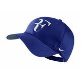 Gorra Nike Roger Federer Azul Con Blanco Cod 457 Dri-fit