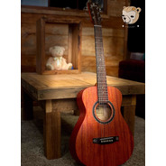 Violão Baby Travel Elétrico 91 Guitars 91lxm34 100% Mogno