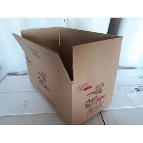 80 Cajas De Carton Corrugado Para Empaque Saldo 34x23x20cms