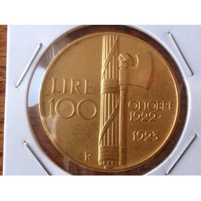 Reino Itália 100 Liras 1923 - Ouro 32 Gramas - Rara