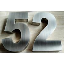 Números Residenciais De 20cm Em Aço Inox Escovado