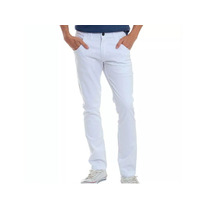 Calça Masculina Jeans Sarja Colorida Slim C/ Lycra 36 Ao 48