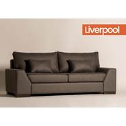 Sillón Sofá Liverpool Tapizado 3 Cpos - Color Living - Cuota