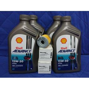 Kit Troca De Oleo Suzuki Yes Intruder Com Shell 15w50 Pl240