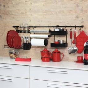 Cook Premium Kit 5 Aramado Para Parede De Cozinha - Preto