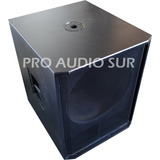 Bafle Vacio 18 Gabinete Subwoofer Caja Acustica Madera 18mm