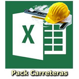 Pack Hojas De Calculo Excel Ingeniería Civil Carreteras