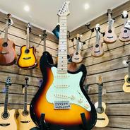 Guitarra Strinberg Stratocaster Preta Sts100  Sunburst