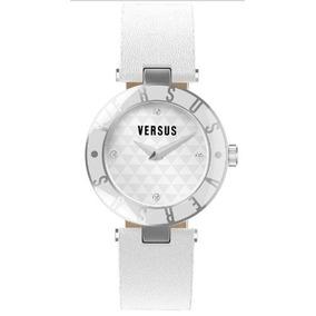 Versus De Versace - Esfera Blanca 3c71400000 Logo Para Mujer