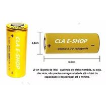 02 Bateria 26650 3,7v 16000mah+01 Carregador De Bateria