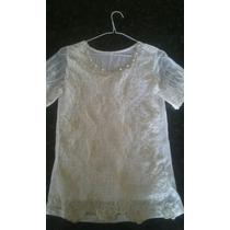 Blusa De Vestir Con Transparencias