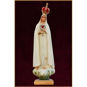 Imagem Imaculado Coração De Nossa Senhora De Fatima 75cm