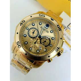 d24f5b9643f Relógio Invicta Pro Diver 0074 Original Dourado B. Ouro 18k. R  649