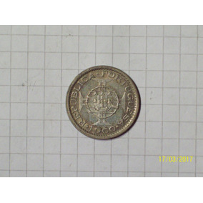 Mozambique Colonia Portuguesa 5 Escudos Plata 1960 Muy Linda