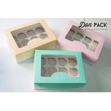 Cajas Para 6 Y 12 Cupcakes (x 50 Cajas De C/u = Total 100)