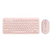 Bundle Logitech Teclado K380 + Mouse M350 Rosa Bluetooth