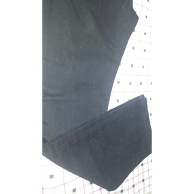 Pantalon Negro Oscuro Liso Bolsillos Talla 40