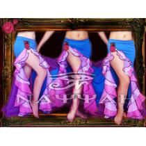 Pollera Volados Para Danza Arabe -belly Dance-