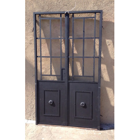 Puerta hierro vidrio repartido aberturas en mercado libre argentina - Puertas de hierro para patios ...