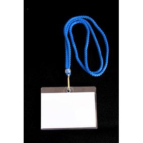 Porta Gafete Rígido De Plástico Transparente