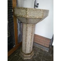 Lavatorio Granito Esculpido Em C/coluna - Pç Ùnica Exclusiva