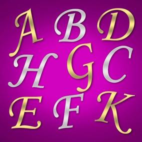 Letras Acrílico Espelhado Dourado Ou Prata Corte Laser 2 Mm