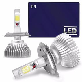 Kit Lampada Super Led H4 6000k Branca 12v E 24v 35w