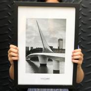 Lámina Foto Puente De La Mujer Buenos Aires 30 X 40 Cm
