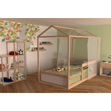 Kit Montessori Individual, Cama, Casa De Sueños Y Repisas