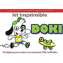 Kit Imprimible Candy Bar Doki Discovery Kids Cotillón