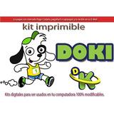 Kit Imprimible Candy Bar Doki Discovery Kids Cotillón