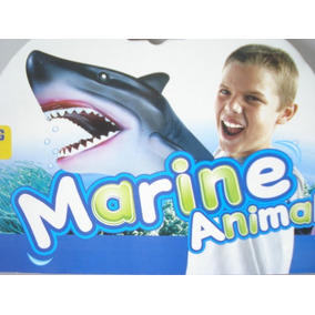 Boneco Marionete Animal Tubarão Bichos Fantoche Oceano