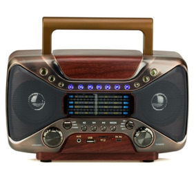 Radio Retro Vintage Bluetooth Am/fm Usb Antigo Marrom