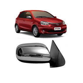 Aplique Cromado Retrovisor Toyota Etios Até 2014