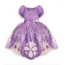 Fantasia Infantil Princesa Sofia + Coroa E Varinha