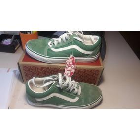 vans altas verdes
