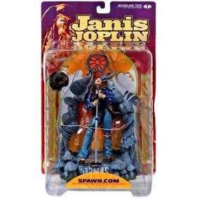 Janis Joplin Cantora Rock Musico Spawn Mc Farlane Novo Tre1