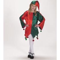Disfraz De Ayudante De Santa Claus Navidad Duende Niñas