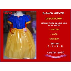 Vestido Blanca Nieves Ó Princesa Sofia Disney Disfraz Niña