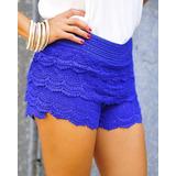12 Faldas Shorts Encaje Tejida Crochet Solo Por Mayor