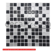01 Placa 31x31 Cm - Pastilha Adesiva Resinada - Várias Cores