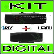 Kit Conversor Tv Digital + Antena Interna * Ponta Estoque *