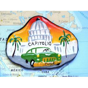 Cuba - Capitolio 3 - Carro Verde - Havana - Imã De Geladeira