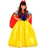 Fantasia Princesa Branca De Neve Luxo Rubi G 10/12 Anos