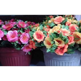 Ramo De Flores Artificiales Con Hojitas