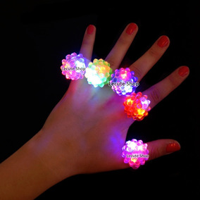 10 Anillos Luminosos Goma Luz Led Multicolor Neon Fiestabar