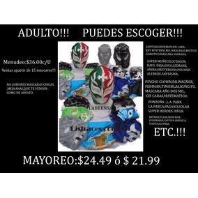 Máscaras De Luchador Adulto Economicas! Puedes Escoger!!!!