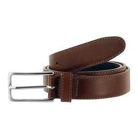 Cinturon Casual Piel Hebilla Metalica Tabaco Dorothy Gaynor